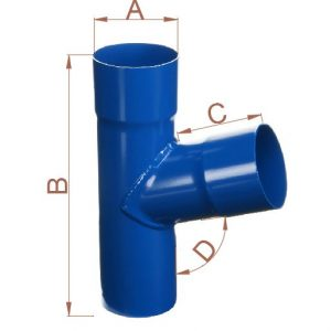 Y Branch for Down Pipes & Gutters ¦ Seamless Aluminium Ireland & UK