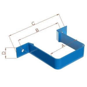 Aluminium Square Downpipe Bracket ¦ Seamless Aluminium Uk & Ireland